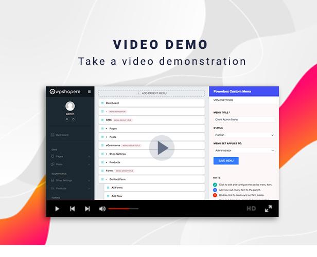 Demonstração de vídeo WPSPowerbox